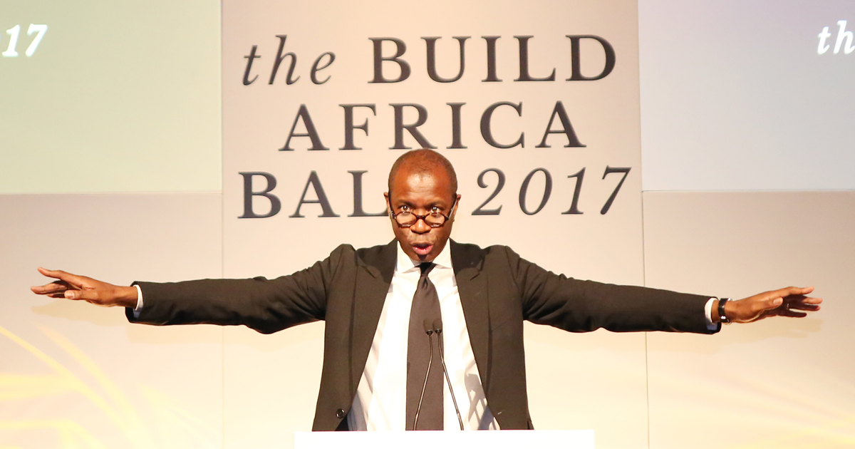 BBC New anchor Clive Myrie hosted the Build Africa Ball